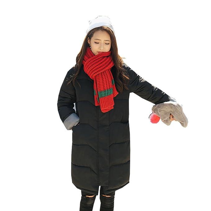 nihiug Piumino Outwear Giù Cappotto Giù Giù Giacca Cotone Lungo Tratto  Inverno Versione Coreana Ampio Ispessimento di Grandi Dimensioni  Amazon.it   ... b04402920b1