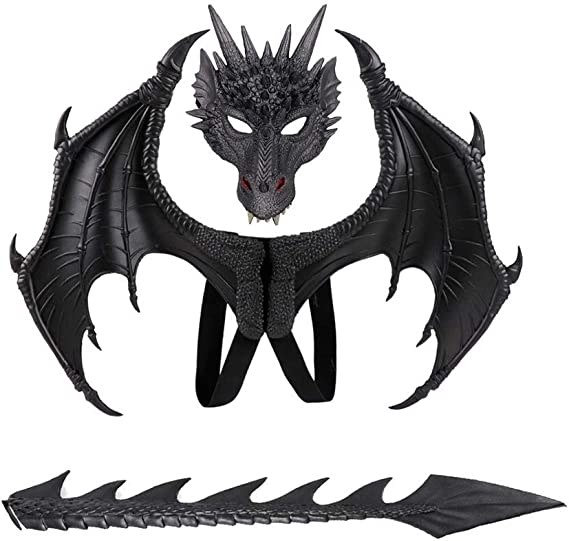 Amazon Halloween Carnival Kids Dress Up Toy Dragon Wings Tail Set