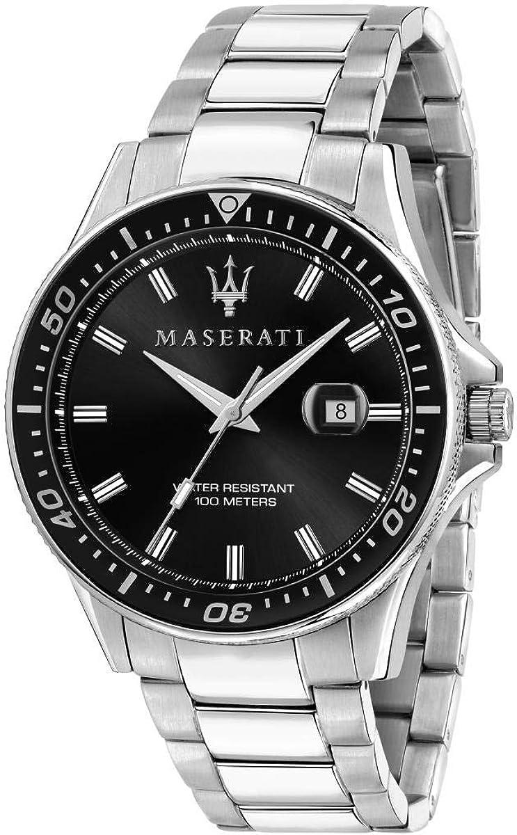 Maserati Reloj para Hombre, Colección Sfida, en Acero Inoxidable, con Correa de Acero Inoxidable - R8853140002