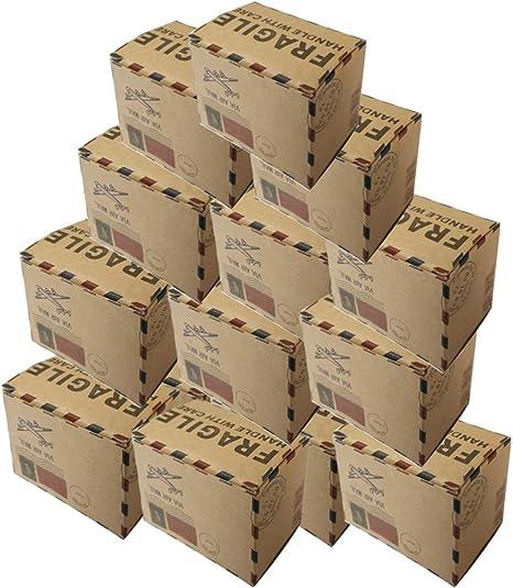 Vosarea 40 cajas de regalo vintage de cartón kraft con tapas para ...