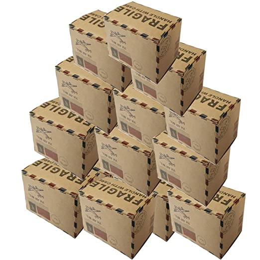 Vosarea 40 cajas de regalo vintage de cartón kraft con tapas ...