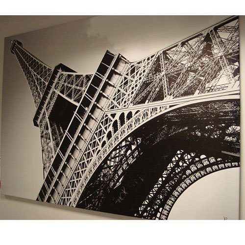 New Ikea Eiffel Tower Picture With Frame Canvas Large 55 X 78 Inches