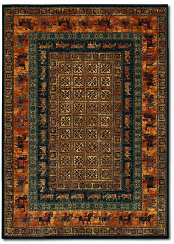 Couristan Old World Classics Pazyrk Burnished Rust Area Rug, 7