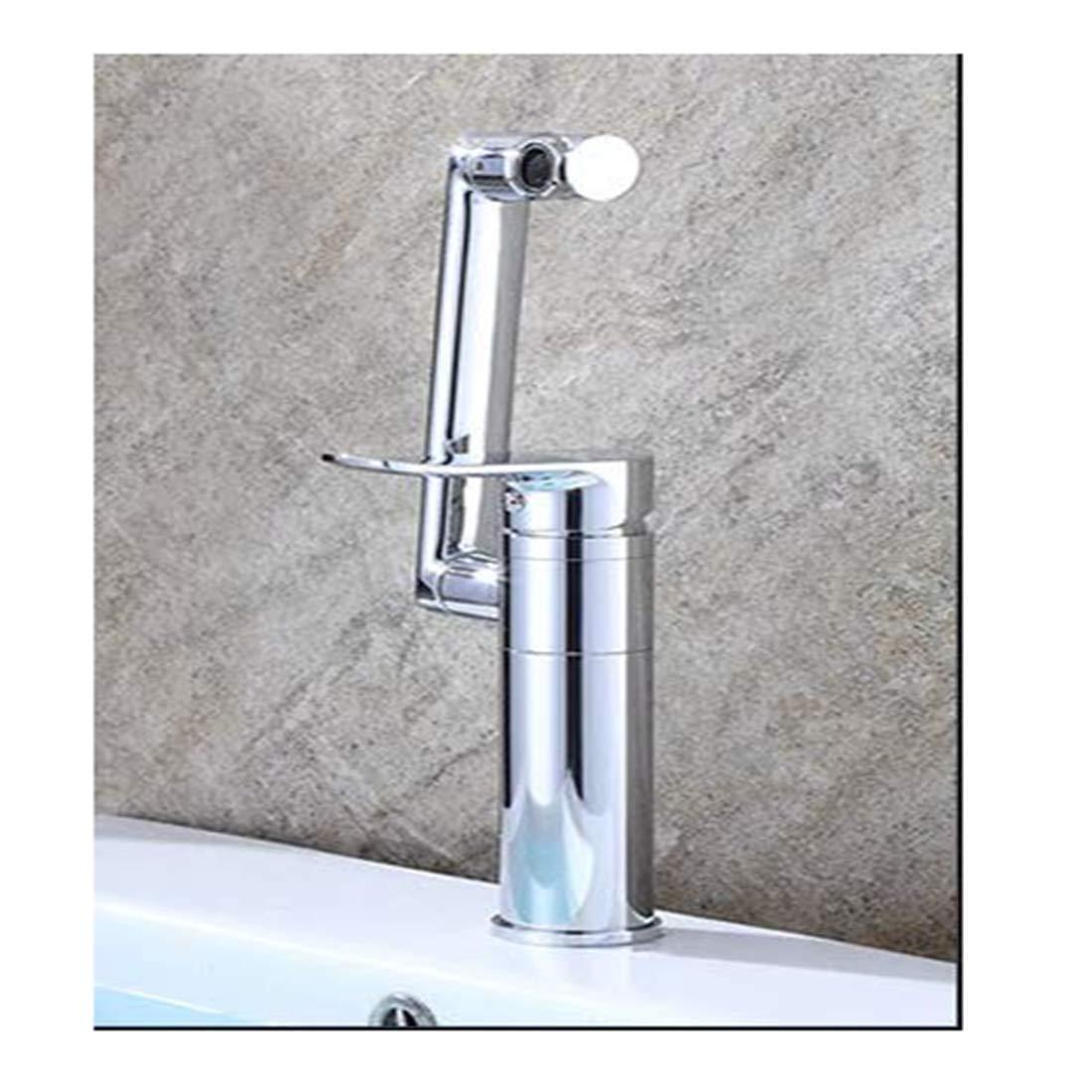 Edelstahlhahn weiße Chrombadhahnwasserhahn Einlochmontage Mischwasser Heiß Und Kalt Bad Becken Wasserhahn