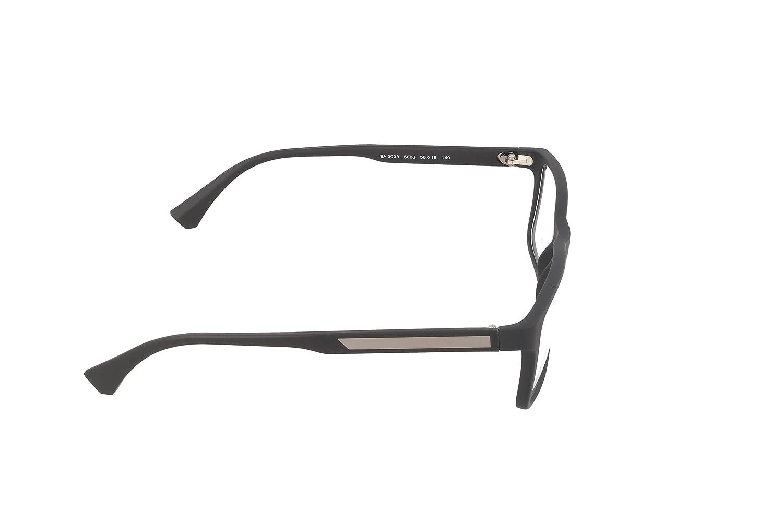 52f12cb19f6 Amazon.com  Emporio Armani EA 3038 Men s Eyeglasses Black Rubber 56  Shoes