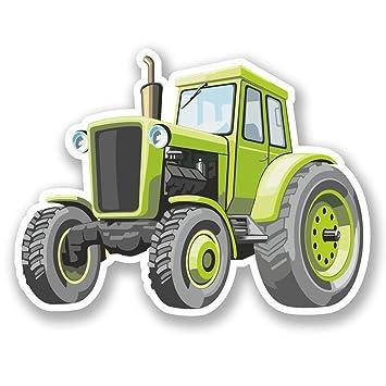 2 x 25cm/250 mm Tractor agrícola Etiqueta autoadhesiva de vinilo adhesivo portátil de viaje equipaje signo coche divertido #5434: Amazon.es: Coche y moto