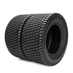 Roadstar Set of 2 Turf Tires 23x10.50x12 4 PR Fit for Lawn Mower Tractor Golf Cart 23x10.50-12 Tubeless