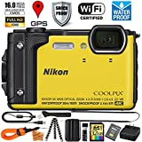 Nikon Coolpix AW130 (Yellow - VNA842E1 / 26494) Digital Camera 32GB EXTREME TOUGH BUNDLE w/ Super Savings Ultra Gentle Microfiber Cleaning Cloth