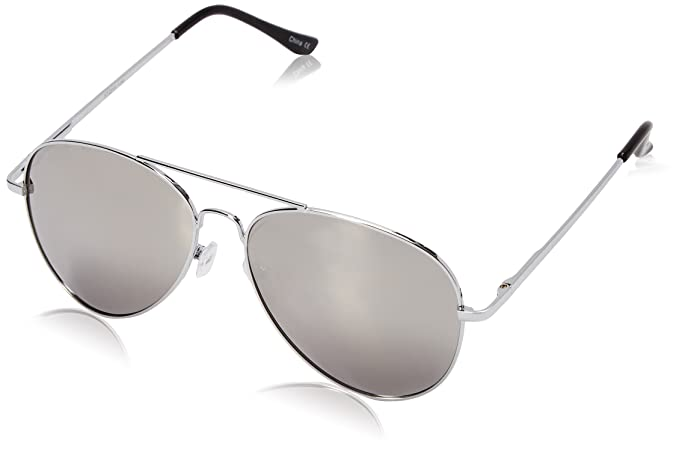 47d73eadaa Amazon.com  zeroUV - FULL MIRROR Mirrored Metal Aviator Sunglasses ...