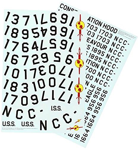 AMT MKA010/12 Star Trek 1/350 Enterprise Registry Decals AMTS9010