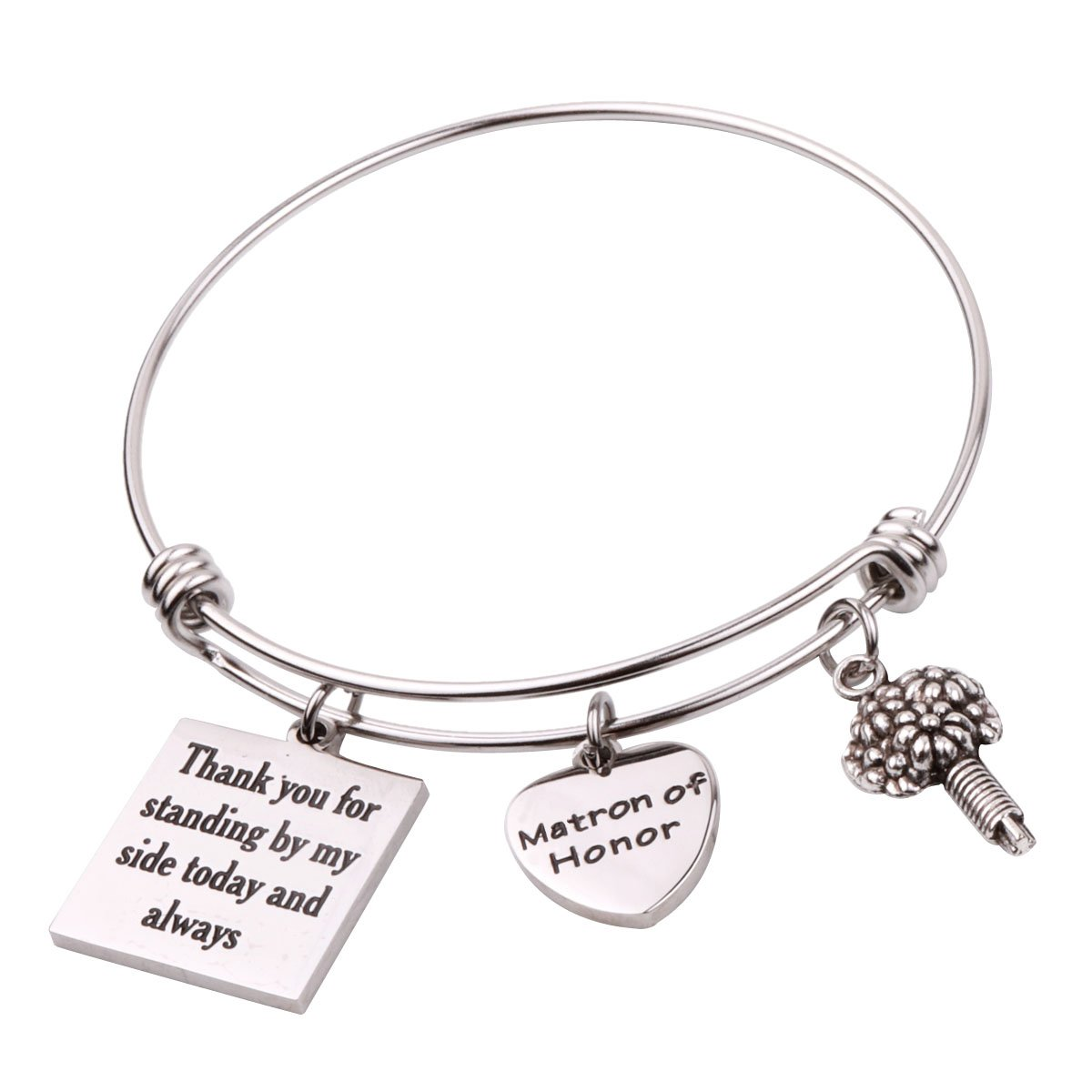 REEBOOO Matron of Honor Gift Matron of honor Jewellery Bridesmaid bracelet (Matron of Honor Bracelet)