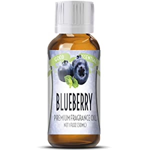 Blueberry Scented Oil by Good Essential (Huge 1oz Bottle - Premium Grade Fragrance Oil) - Perfect for Aromatherapy, Soaps, Candles, Slime, Lotions, and More!