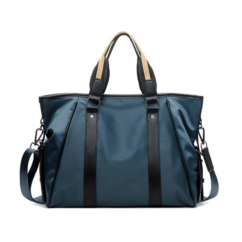 Yangjiaxuan Men Oxford Cloth Handbag Personality High Capacity Shoulder Bags Travel Carry Bag (Color : Blue)