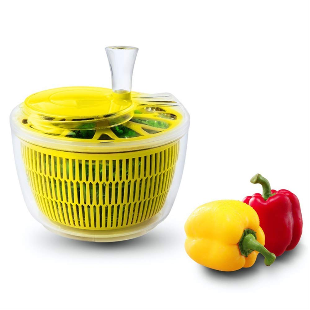 Plastic PP fruit salad cleaner shaker Household manual vegetable salad dehydrated by yueguan