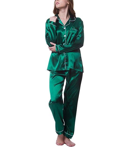 select for original best prices 2018 shoes Evan Fordd Womens Silk Satin Pajamas Pyjamas Set Long Sleeve ...