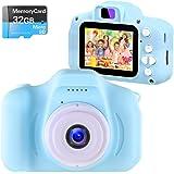 NINE CUBE Kids Camera Digital Camera for 3-10 Year Old Girls,Toddler Toys Video Recorder 1080P 2 Inch,Children Camera…
