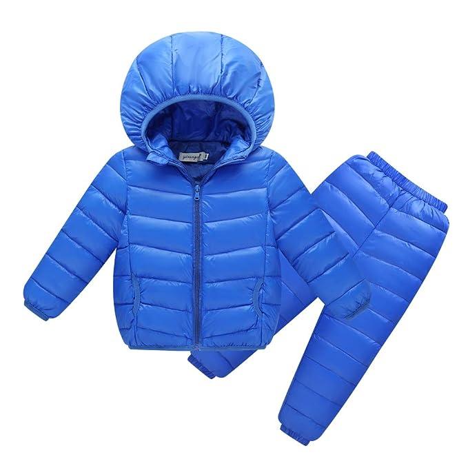 ca39e441f4 Piumino Ragazzo Ragazza Ragazzi Ragazze Bambini Autunno Inverno Caldo Parka  Cappotto Colore Chiaro Vestiti per Bambini