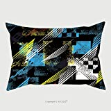 Custom Satin Pillowcase Protector Abstract Seamless Pattern For Girls Boys Clothes Creative Vector Background With Dots Geometric 475122148 Pillow Case Covers Decorative