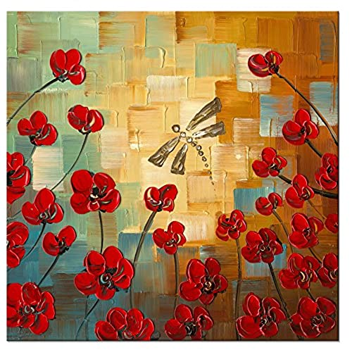 Large Floral Canvas Wall Art: Amazon.com