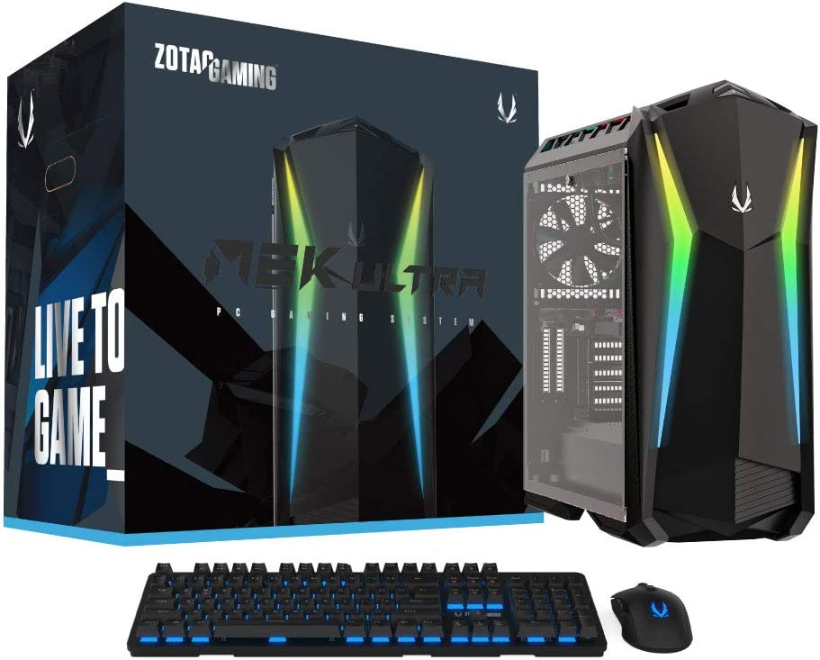 ZOTAC Gaming MEK Ultra Gaming PC, GeForce RTX 3070 8GB GDDR6, 8-core Liquid-Cooled Intel Core i7-9700, 16GB DDR4/512GB NVMe SSD/2TB HDD/Windows 10 System, GU3070C7R0B-U-W2B