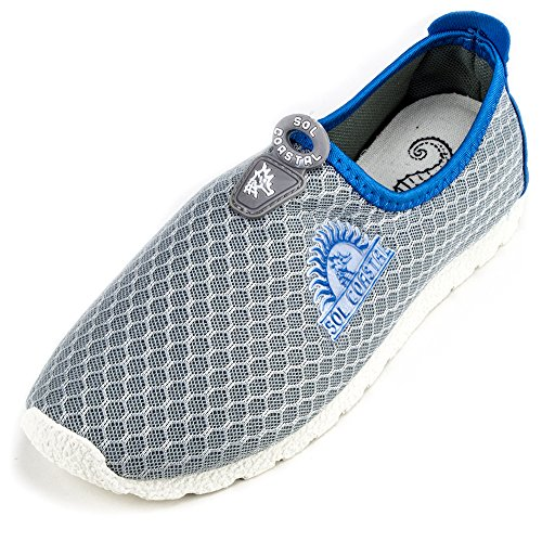 Sol Runner Gray Women's 7 Water Shoes Shore Dolphin Coastal Size qrtpwPr