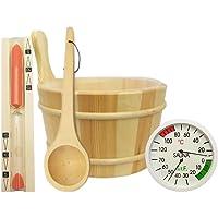 Sauna accesorios (5piezas)-Cubo para sauna (Sauna Paleta Thermo