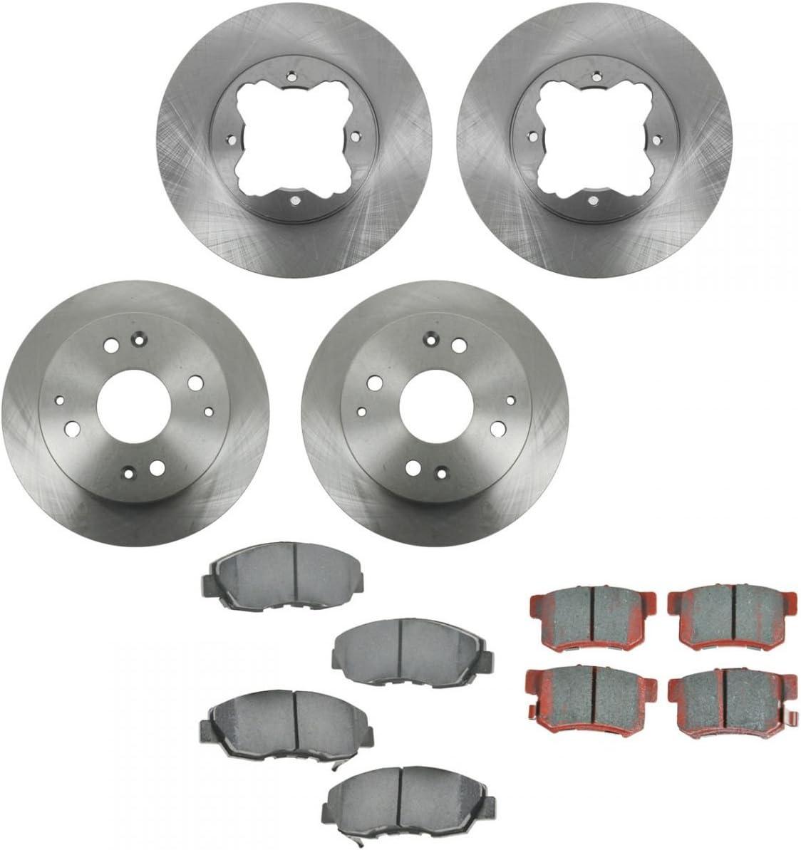 Front /& Rear Premium Posi Ceramic Disc Brake Pad Kit for Honda Acura New