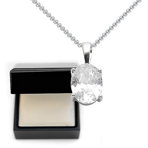 Regali Di Natale Per Fidanzato.Regali Di Natale Per Fidanzata Zirconia Forma Diamante Pendente