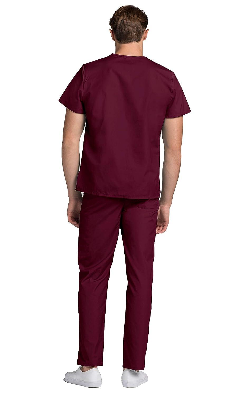 Adar Uniformi Mediche Camice da Uomo Parte Superiore Infermiera Ospedale da Lavoro