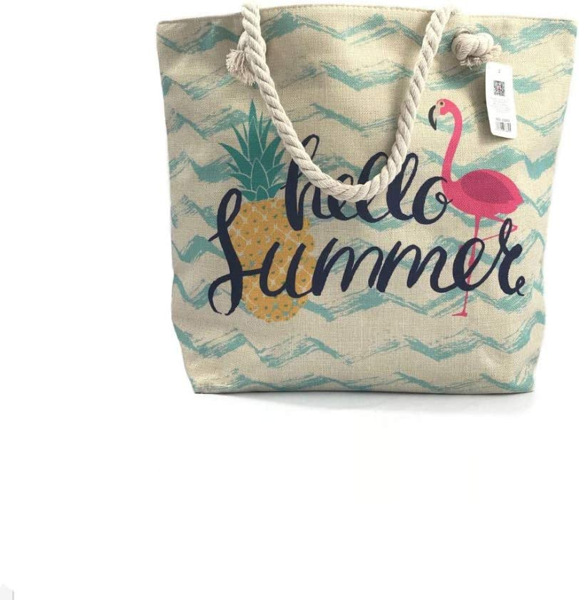 Bolsa de Playa Bolsa de Hombro Manija de algodón Impermeable, Cremallera Superior, Bolsillo Exterior. Bolso de Playa: Amazon.es: Equipaje