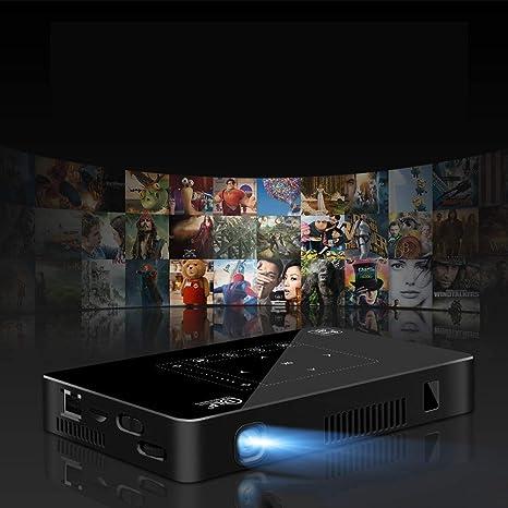 Opinión sobre Mini Proyector Led Dlp Inteligente con Altavoz Bluetooth WiFi Sistema Android 6.0 Soporte Instalación De La Aplicación Google Play Tarjeta USB TF Altavoces Portátiles De Entrada De Línea Hdmi