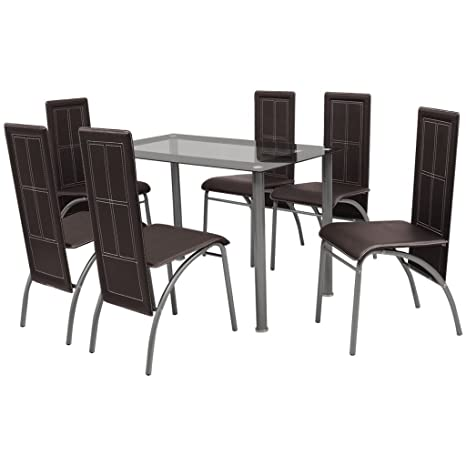 Festnight Set Sala Da Pranzo/tavolo cucina con sedie 5 Pezzi Bianco