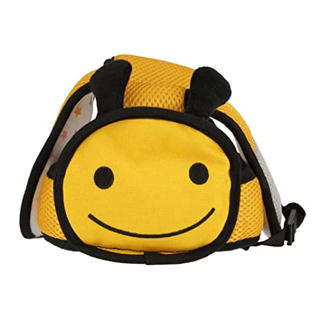 Sombrero de Seguridad para Bebés Casco Ajustable Protección para Cabeza Dibujos Animados para Niños Pequeños Caminar
