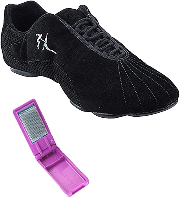 Pouch Black Leather 9 M US Bundle Lightweight Very Fine Mens Womens Salsa VFSN016 Split Sole Dance Sneaker Shoes