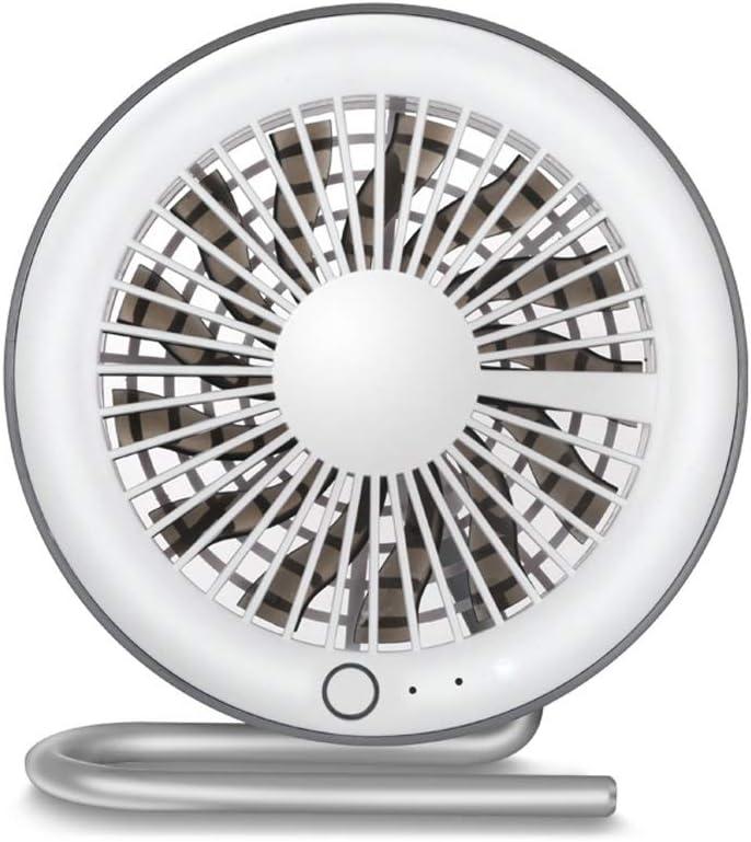 Color : White Mini Portable Cooling Fan USB Mini Fan Personality Summer Magnetic Bracket Desktop Portable Fan 13 Leaf Ultra Quiet Bedroom Fan