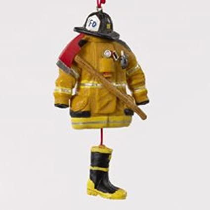 "Kurt Adler 4.5"" Fireman Hat, Ax and Coat with Dangling Boots Christmas  Ornament - Amazon.com: Kurt Adler 4.5"