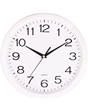 "Quartz""silent tick"" Wall Clock- ideal for use in the office, home or kitchen. Quality quartz movement means the clock is very accurate. The silent sweep means none of that annoying ticking!"
