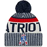 New Era New England Patriots 2017 NFL Official Sideline Sport Knit Hat - Classic Logo
