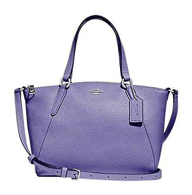 23a3b21d3 Coach Pebble Leather Mini Kelsey Satchel Crossbody Handbag (SV/Light  Purple): Handbags: Amazon.com