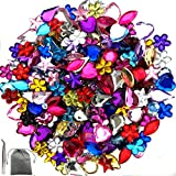 JPSOR-600-Pcs-Gems-Acrylic-Flatback-Rhinestones-Gemstone-Embellishments-6-Shapes-613mm-with-Tweezers-and-Bag-6