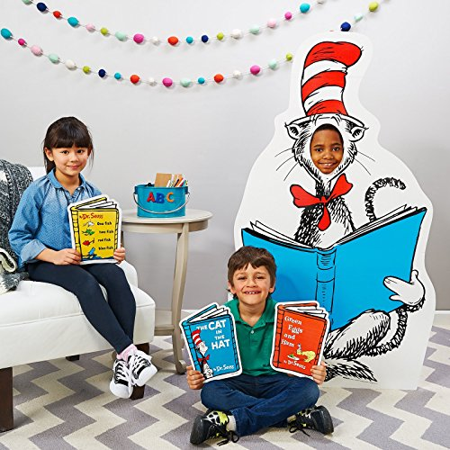 ADVA5700 Dr Seuss Party Room Decorations - Cat in the Hat Life Size Cardboard Stand In -