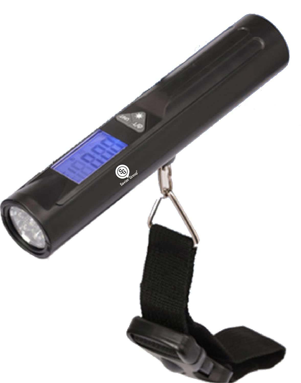Silver B/ásculas de Equipaje 50 kg//10g con Pantalla LCD Balanza Electr/ónico De Mano Escala del Equipaje Pesa Maletas B/áscula Digital de Precisi/ón B/áscula Digital de Cocina con Hanging Hook