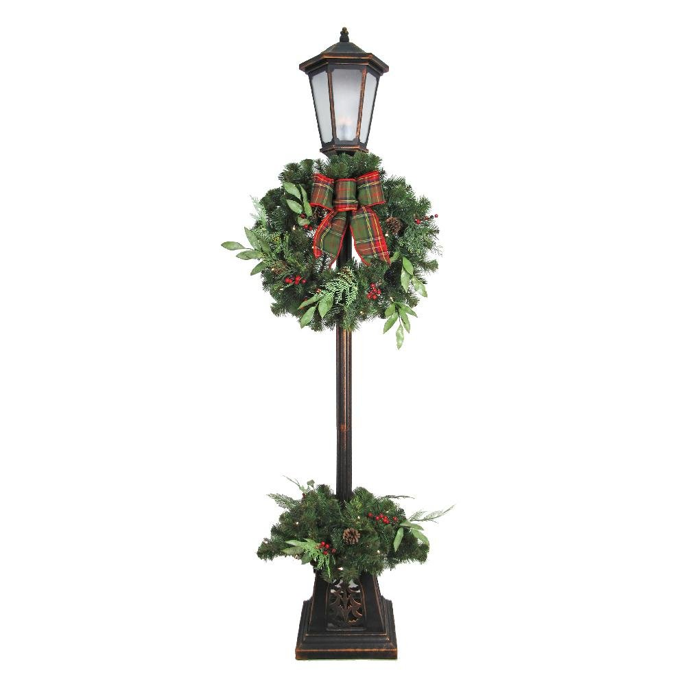 7 ft LED Pre-lit Woodmore Lamp Post Tree (Warm White)