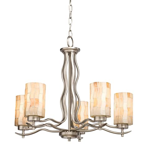 Kichler lighting 66050 5 light modern mosaic chandelier antique kichler lighting 66050 5 light modern mosaic chandelier antique pewter aloadofball Images