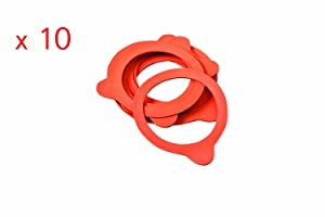 Weck 60mm Rubber Seals / Rings (Set of 10). Fits WECK Models 080 760 761 762 763 764 766 902
