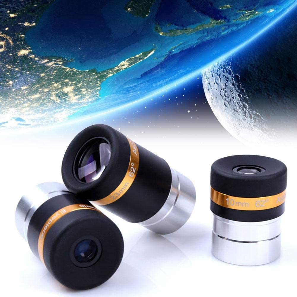 31.7mm Astronomy Telescope Eyepiece Telescope Wide Angle 62 Degree Lens for 1.25 inch