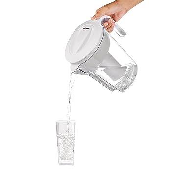 waljin 11 taza sin BPA agua jarra con 1 filtro, color blanco.: Amazon.es: Hogar
