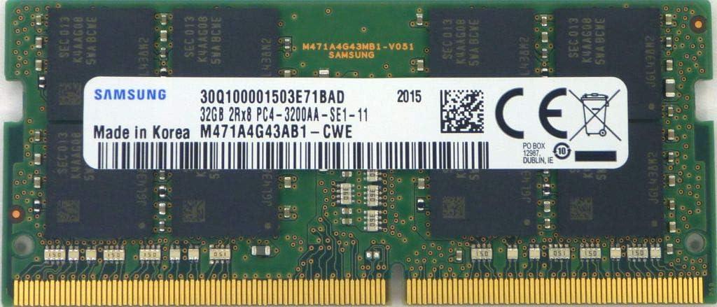 32GB DDR4 3200MHz PC4-25600 1.2V 2Rx8 260-Pin SODIMM Laptop RAM Memory Module M471A4G43AB1-CWE