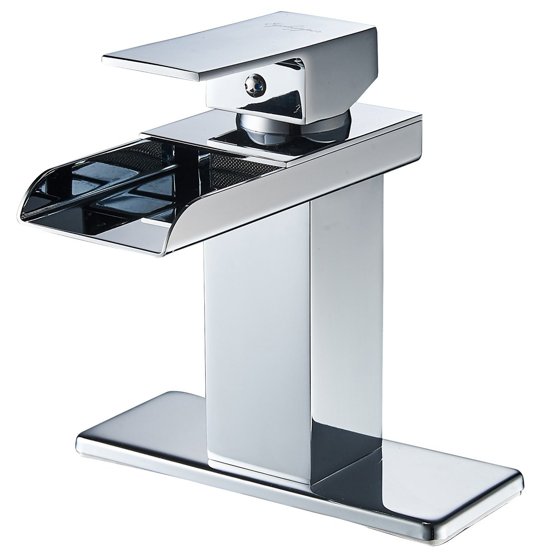 Eyekepper Modern Single Handle Waterfall Bathroom Sink Faucet Chrome Finish