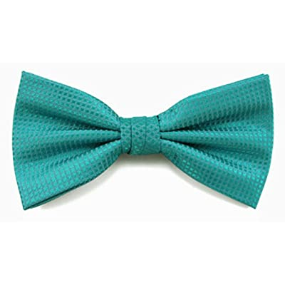 Absolute Stores Boys Turquoise Woven Like Band Bow Tie